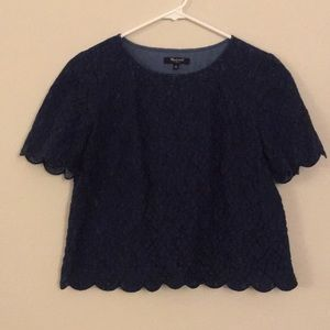 Madewell Lace Scalloped Blouse